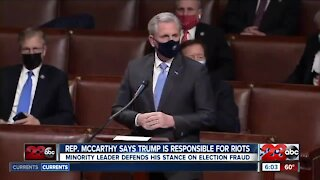 Rep. McCarthy discusses conversations he's had with President Trump since riots