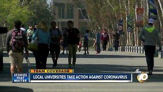Local universities take action against coronavirus