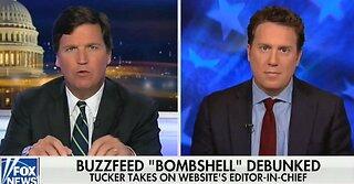 Tucker Carlson tips BuzzFeed editor over debunked 'bombshell' Cohen story