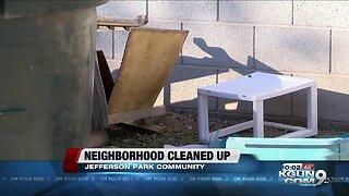 Neighborhood cleaned up