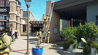 Firefighters battle La Encantada restaurant blaze