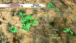 Thunderstorms south of Tucson