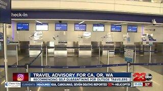 California, Oregon, Washington issue virus travel advisories