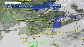 Cloudy, mild Tuesday ahead