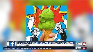 Company selling vegan spinach ice cream