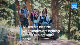 All-terrain electric wheelchairs are helping people explore state parks