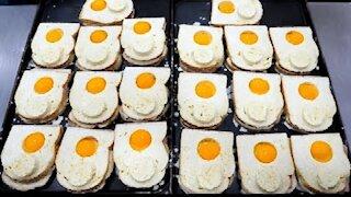 Unique Visual Egg Sandwich / korean street food