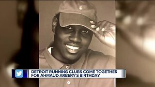 Detroit running clubs come together for Ahmaud Arbery's birthday