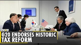 G20 Finance Ministers back historic corporate tax deal | Latest World English News | WION News