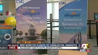 Allegiant Air adding new nonstop flights to Charleston, Sarasota