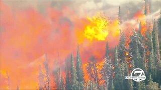 Chopper video: Cameron Peak Fire starts near Chambers Lake in western Larimer County