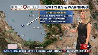 Valley Dense Fog Advisory overnight