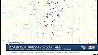 Tulsa dealing with water main breaks