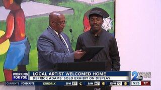 Local artist, Derrick Adams previews solo exhibit