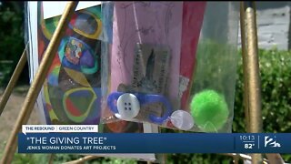 """Jenks woman donates art projects with """"The Giving Tree"""""""
