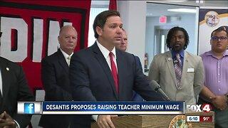 DeSantis holds press conference on raising teachers salary