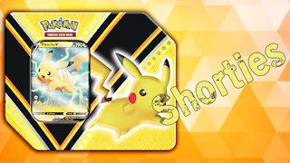 Opening a Pokémon Pikachu V Power Tin!