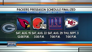 Packers preseason schedule finalized