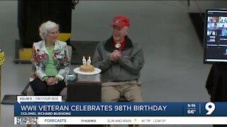 Local veteran beats COVID, celebrates 98th birthday