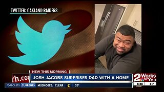 Josh Jacobs surprises dad with a home