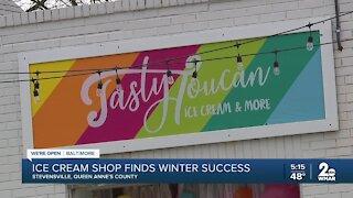 Ice cream shop finds winter success