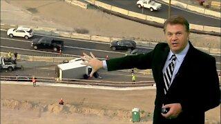 Major crash closes westbound I-70 at Colorado Boulevard