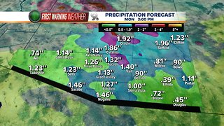 Heavy rain expected in the high country