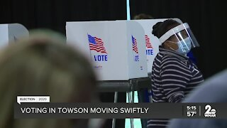 Voting in Towson Moving Swiftly
