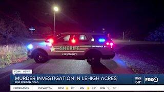 Murder investigation in Lehigh Acres