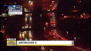 I-90 westbound closed after serious crash