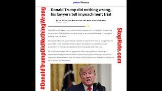 Donald Trump Did Nothing Wrong #DonaldTrumpDidNothingWrong