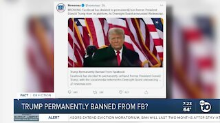 Fact or Fiction: Trump banned from Facebook