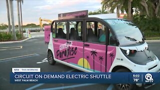 West Palm Beach to offer free rides on electric shuttle
