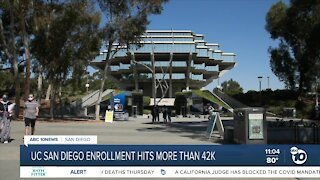 UC San Diego sees highest-ever enrollment since opening