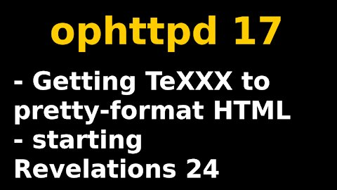 Writing an HTML formatter for TeXXX | ophttpd 17
