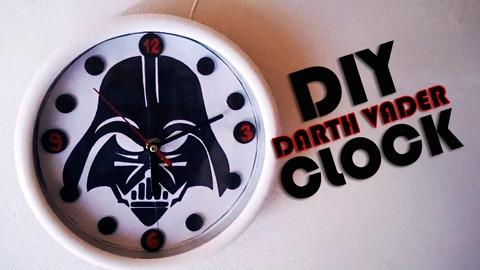 DIY Darth Vader wall clock tutorial