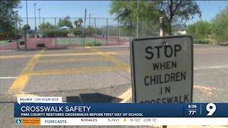 Pima County restores crosswalks ahead of school year