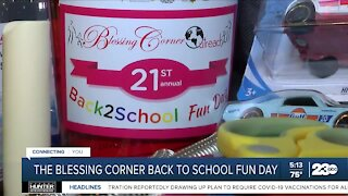 The Blessing Corner back-to-school fun day