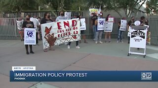 Immigration advocates protest in Phoenix over Haitian migrant deportations