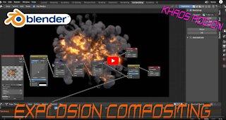 Blender 3d Explosion Compositing: VFX Node Breakdown