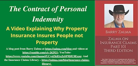 The Contract of Personal Indemnity