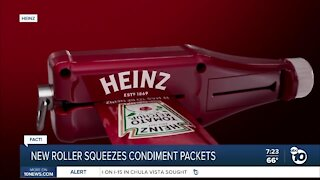 Gadget can squeeze every drop out of ketchup packet?