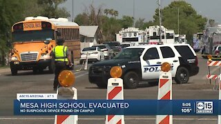 'All clear' given after Mesa High School bomb threat, evacuation