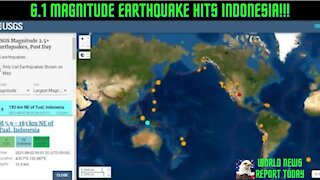6.1 Magnitude Earthquake Hits Indonesia