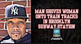 Man Shoves Woman Onto Train Tracks In Brooklyn Subway Station 🚆 | The Flo Night Show 🌚