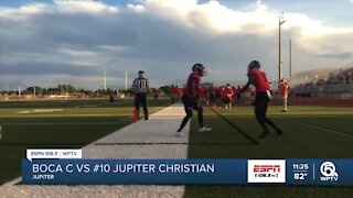 #10 Jupiter Christian cruises to 42-0 win over Boca Christian
