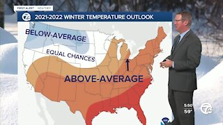 2021-2022 Winter Temperature Outlook from NOAA