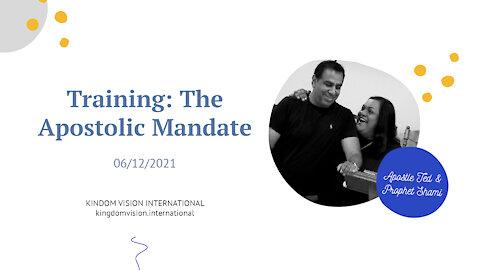 Training: The Apostolic Mandate