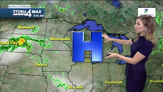 Cloudy, quiet day Friday