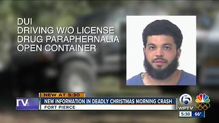 New information in Fort Pierce deadly Christmas morning crash